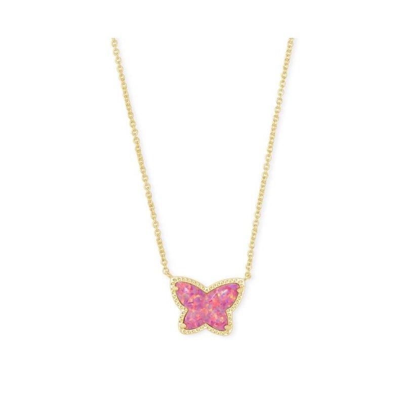 Kendra Scott Lillia Butterfly Pendant in Rose Pink Opal