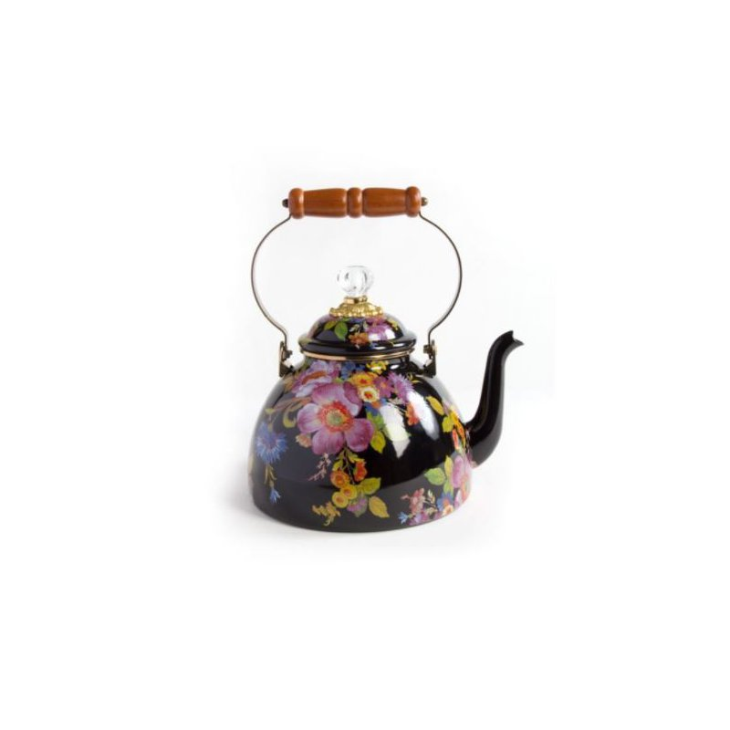 MacKenzie-Childs Flower Market 3 Quart Tea Kettle