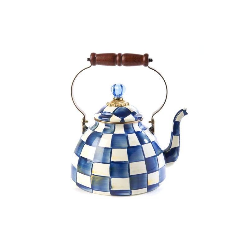 MacKenzie-Childs Royal Check Tea Kettle - 3 Quart