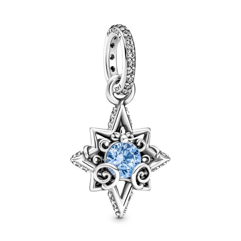 PANDORA Disney Cinderella Blue Star Pendant