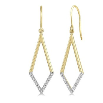 Diamond Geometric Earrings