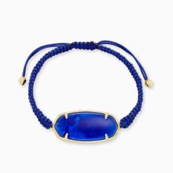 Elle Friendship Bracelet in Cobalt Blue Illusion