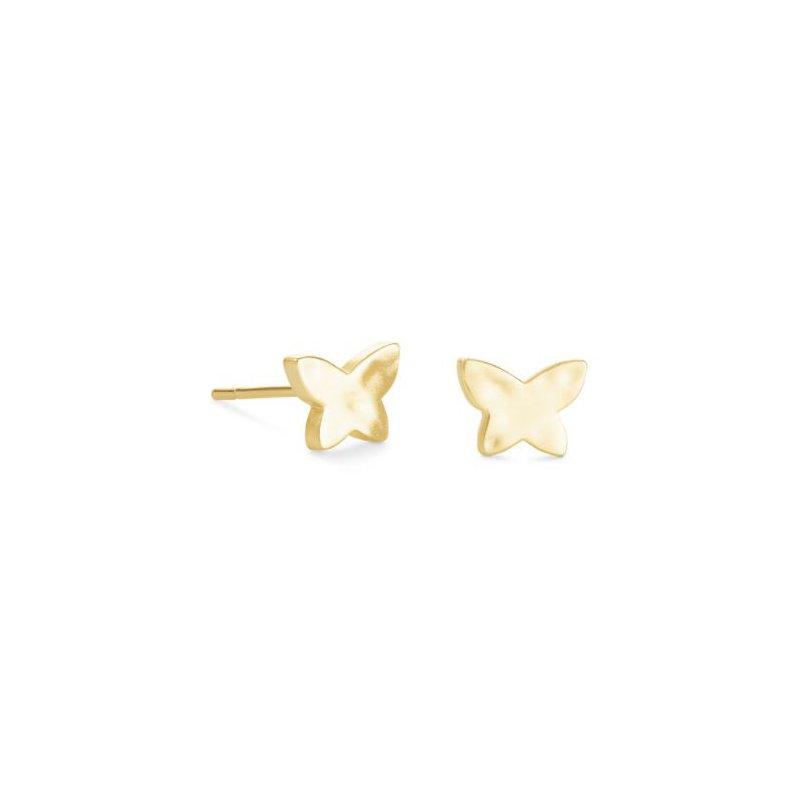 Kendra Scott Lillia Butterfly Studs in Gold