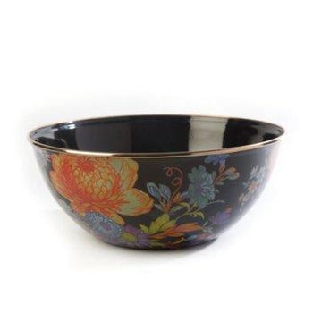 Flower Market Large Everyday Bowl - Black