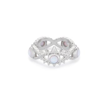 Gemma in White Opal (Size 6)