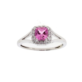 Chatham Pink Sapphire Ring