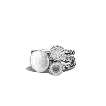 Dot Hammered Stack Rings (Set of 3)
