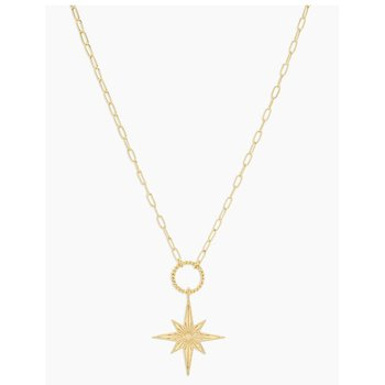 Celeste Starburst Necklace in Gold
