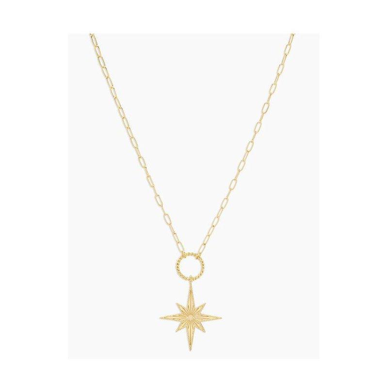 Gorjana Celeste Starburst Necklace in Gold