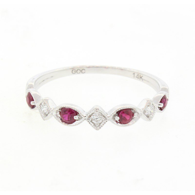 Kelley Collection  Diamond & Ruby Band