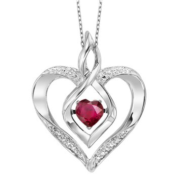 Rhythm of Love Ruby Pendant