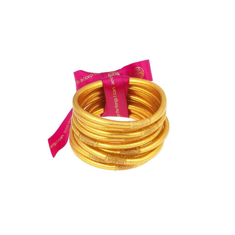 BuDhaGirl Gold All Weather Bangles in Large