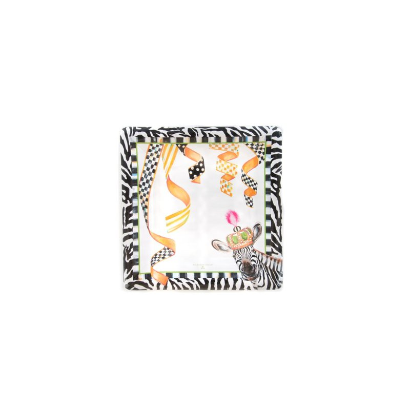 MacKenzie-Childs A Different Stripe Paper Plates - Salad/Dessert