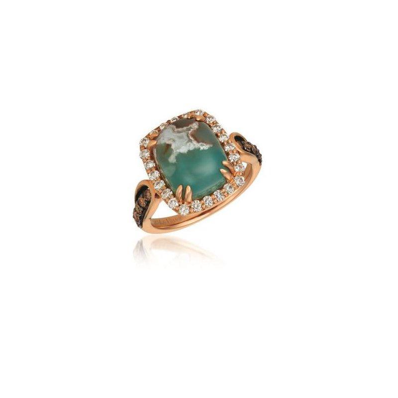 Le Vian Aquaprase Candy, Chocolate Diamond® &  Nude Diamond™ Ring