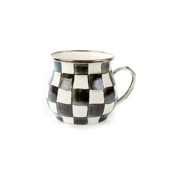 Courtly Check Enamel Mug