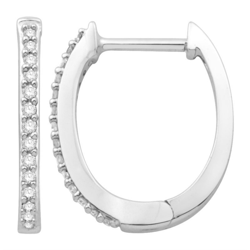 Kelley Collection  Diamond Hoop Earrings
