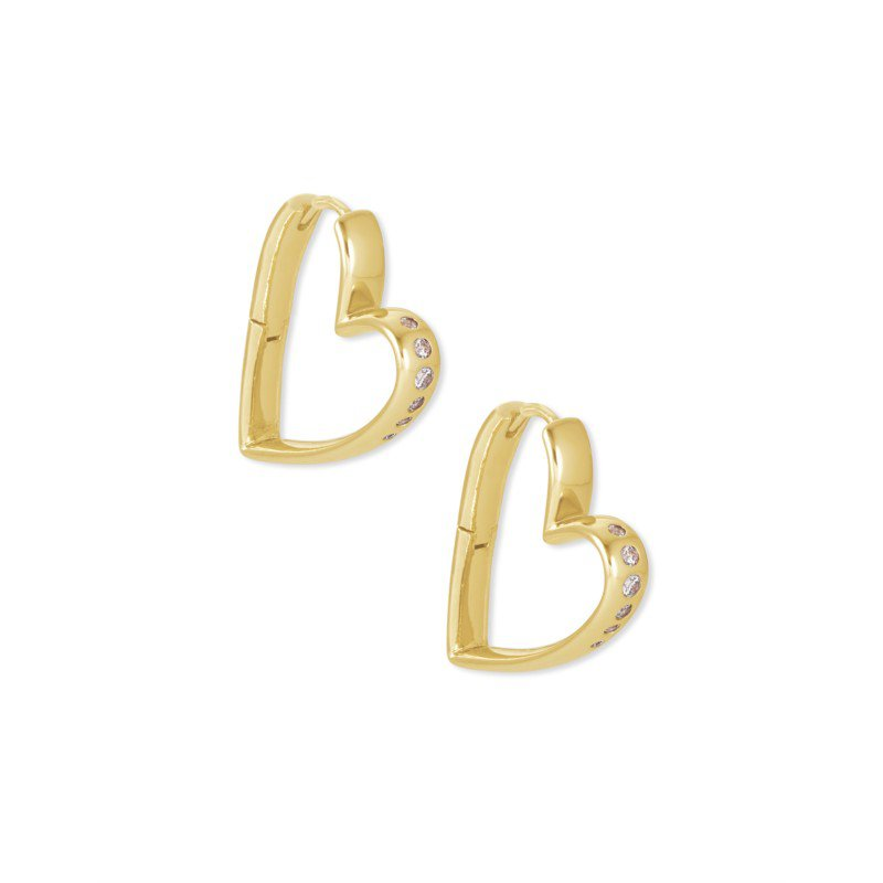 Kendra Scott Ansley Small Hoop in Gold