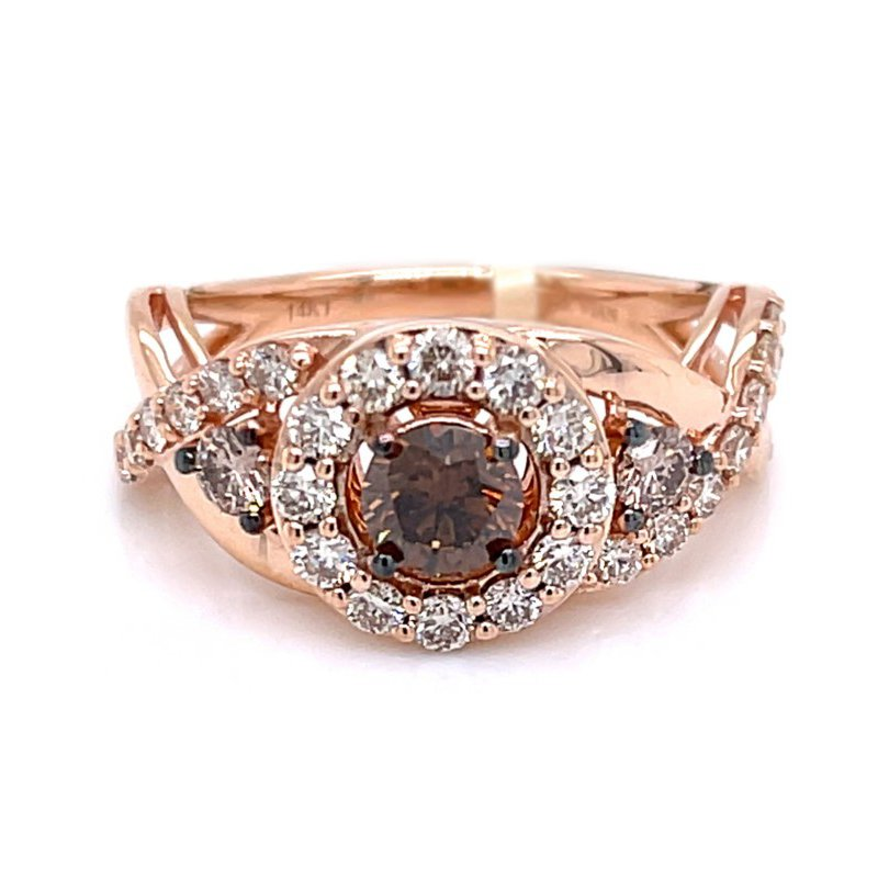 Le Vian 14K Strawberry Gold® Chocolate & Nude Diamond® Ring