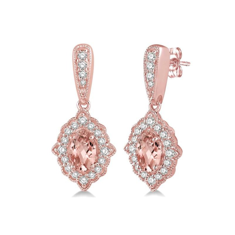 Kelley Collection  Morganite & Diamond Earrings
