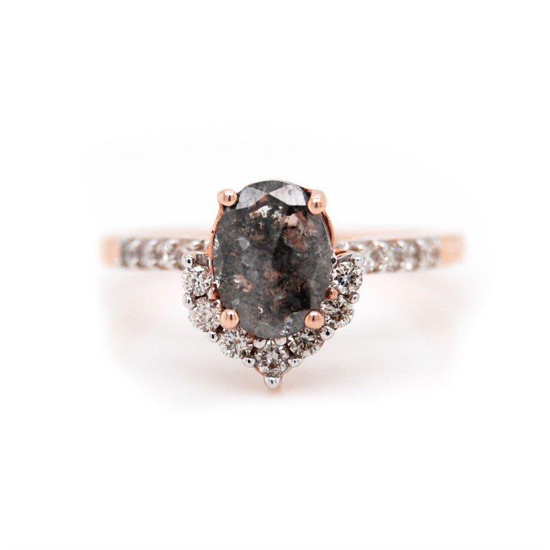 Salt & Pepper Engagement Ring