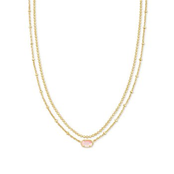 Emilie Multi Strand in Rose Mother of Pearl