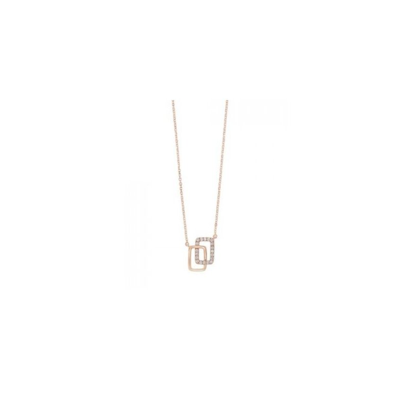 Kelley Collection  Diamond Rectangle Necklace