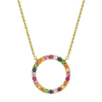Multi Color Circle Necklace