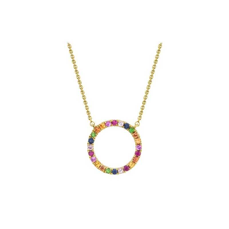 Kelley Collection  Multi Color Circle Necklace