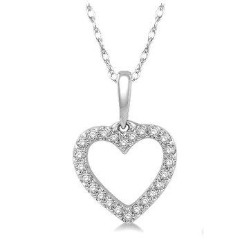 Diamond Open Heart Pendant