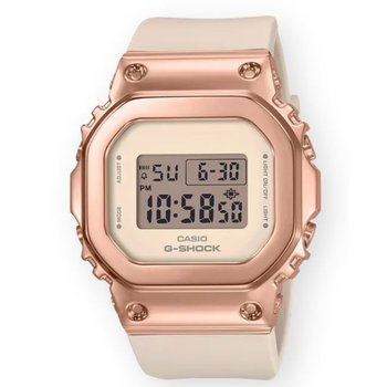 G-Shock Square 5600 Series with Pink Metal Cover