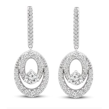 Close 2gether Diamond Dangle Earrings
