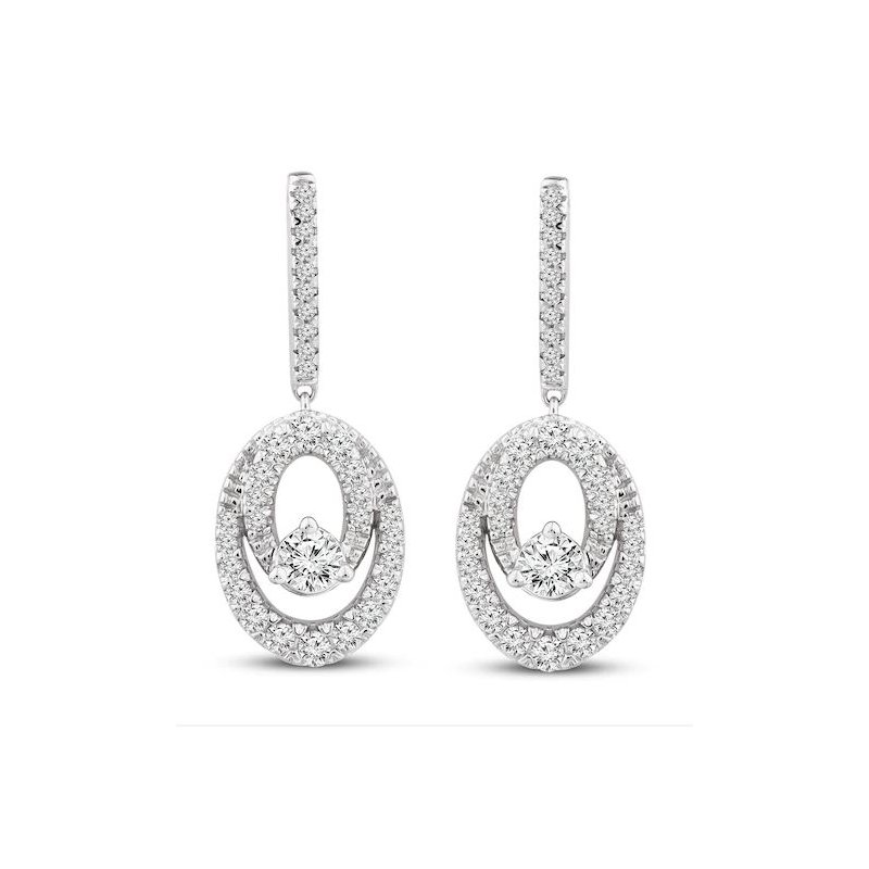 Kelley Collection  Close 2gether Diamond Dangle Earrings