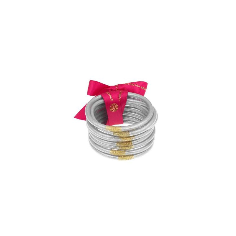 BuDhaGirl Silver All Weather Bangles in Small