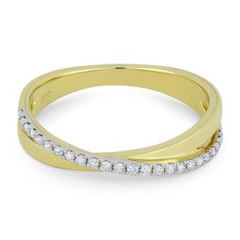 Diamond Crisscross Ring