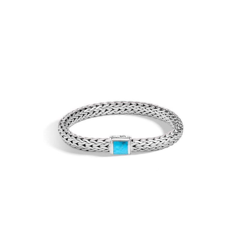 John Hardy Classic Chain Bracelet with Turquoise