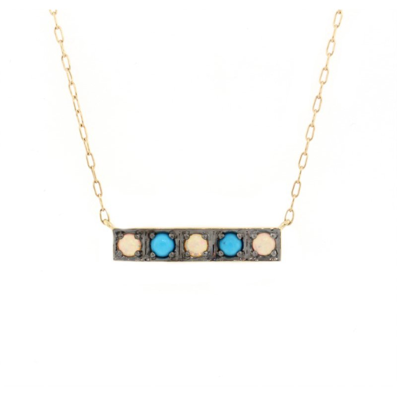 Kelley Collection  Opal & Turquoise Bar Pendant