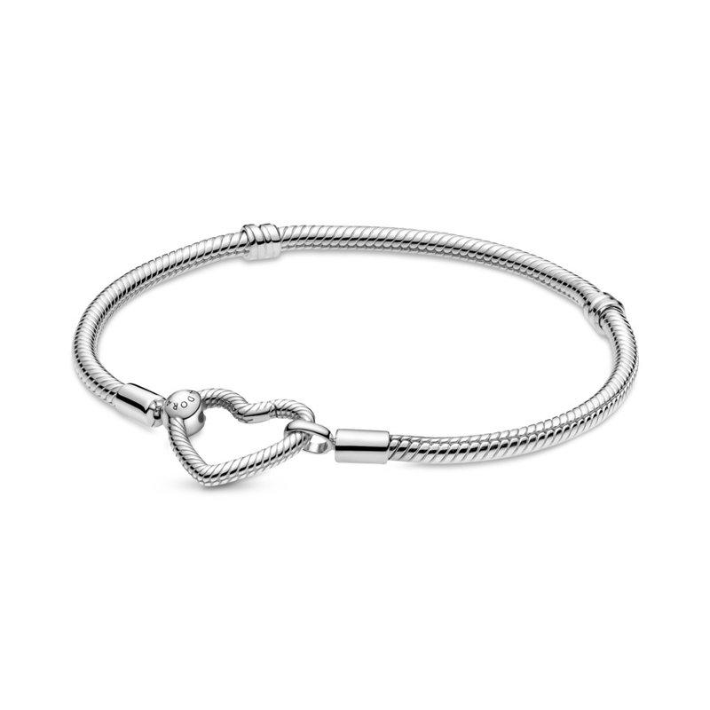 PANDORA Pandora Moments Heart Closure Snake Chain Bracelet
