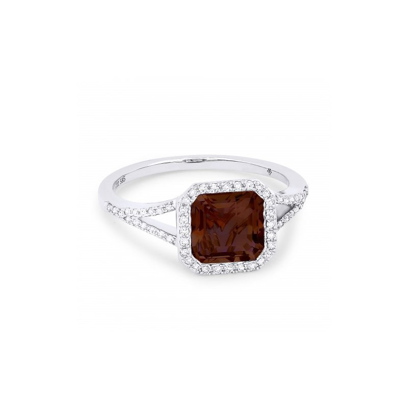 Kelley Collection  Garnet & Diamond Ring