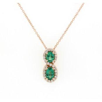 Smeralda Emeralds™ & Vanilla Diamond® Pendant