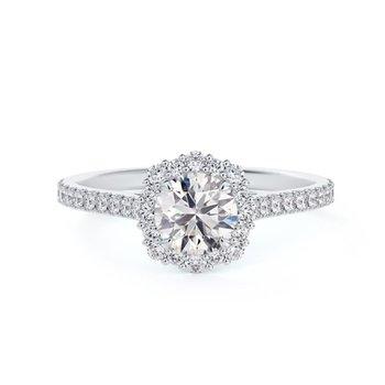 Center Of My Universe® Diamond Halo Ring