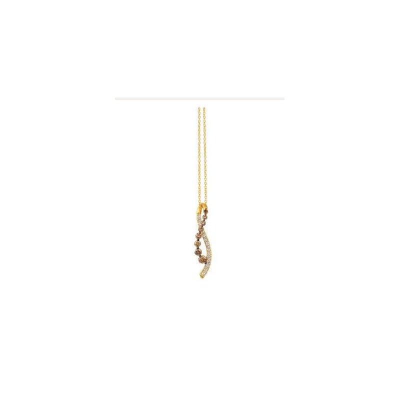 Le Vian 14K Honey Gold™ Chocolate Ombré Diamond® Inifnity Pendant