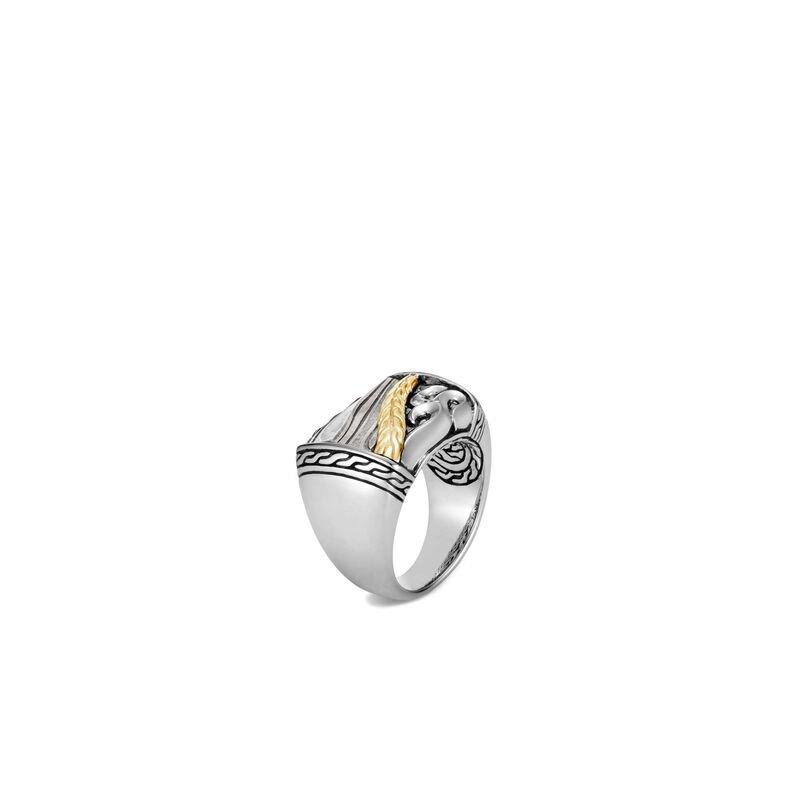 John Hardy Classic Chain Keris Dagger Ring with Damascus Steel