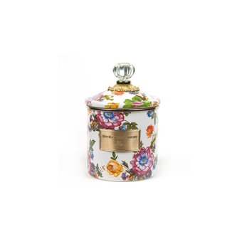 White Flower Market Small Canister