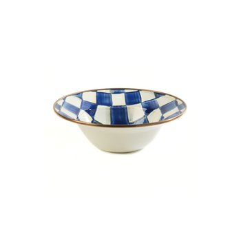 Royal Check Enamel Breakfast Bowl