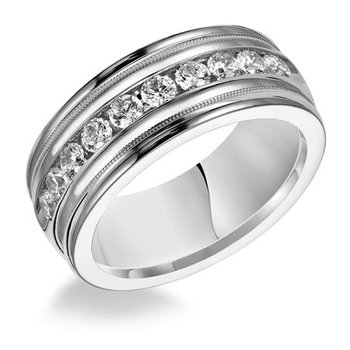 White Gold 8.5mm Band