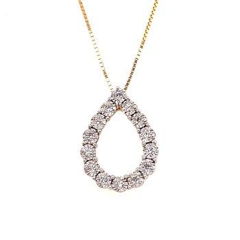 Diamond Pear Pendant