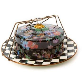 Flower Market Cake Carrier - Black