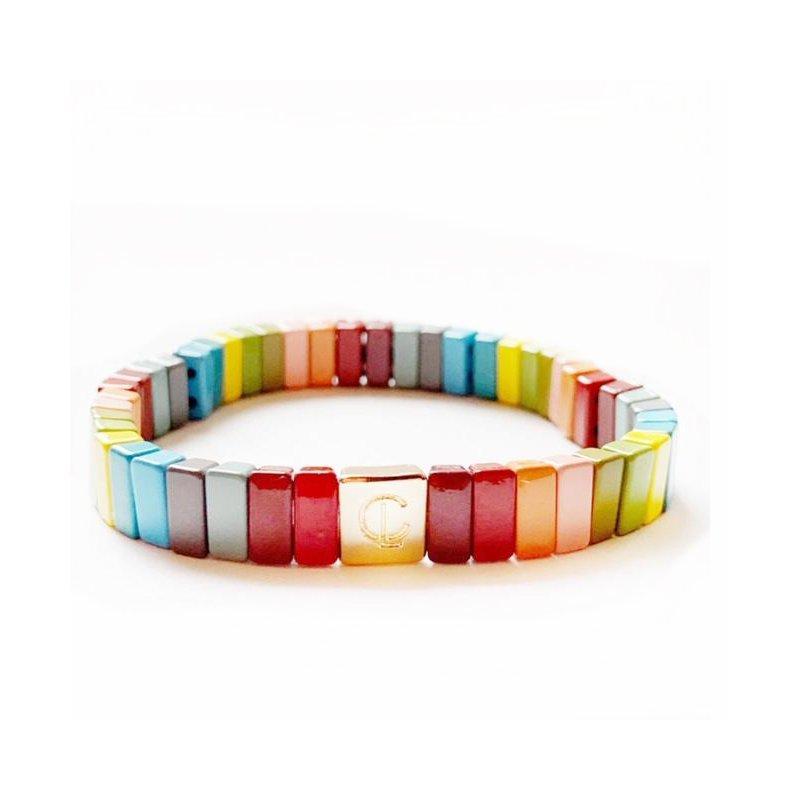 Caryn Lawn Enamel Stretch Bracelet