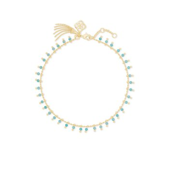 Jenna Anklet in Teal Amazonite