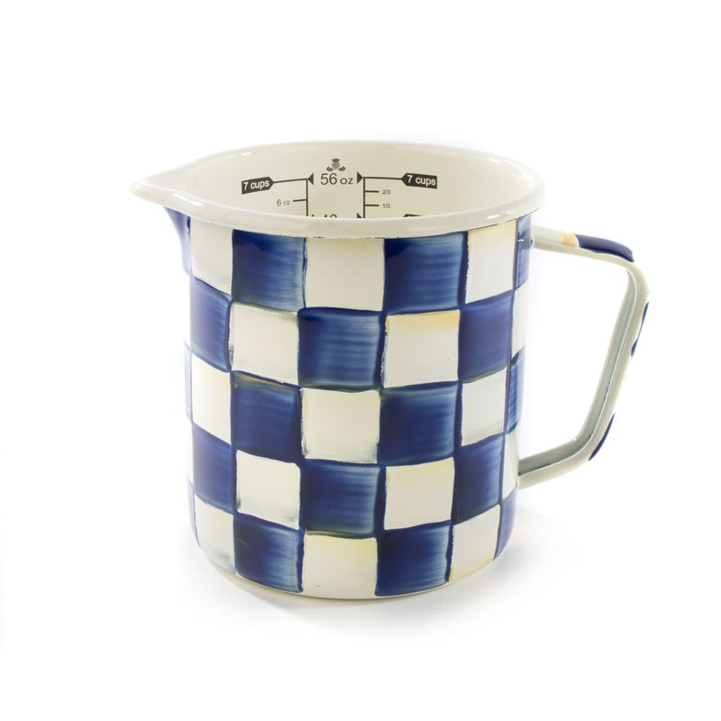 MacKenzie-Childs Royal Check 7 Cup Measuring Cup